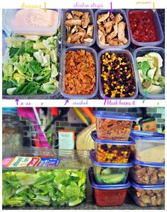 Salad Food Prep! Southwest!