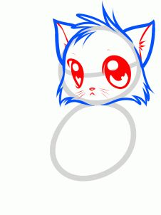 How to draw a cute anime cat