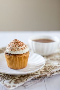 Tiramisu Cupcakes by annieseats: Perfect. An eggy spongecake soaked with an espresso-Kahlua syrup and topped with a mascarpone frosting and a dusting of cocoa powder. #cupcakes #Tiramisu_Cupcakes #annieseats
