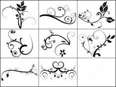 swirl tattoo designs #tattoo #swirls #flowers #black_and_white