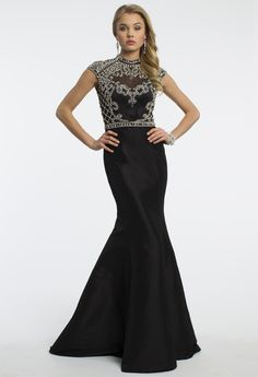 Camille La Vie Illusion Mermaid Prom Dress with Open Back