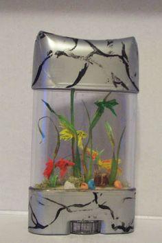 An Aquarium from A Deodorant Container