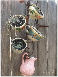 Creative use of an old rake!
