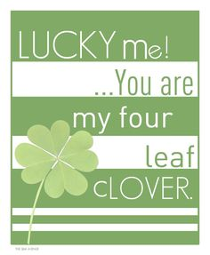 Lucky Me! St Patrick's Day Free Printable :)