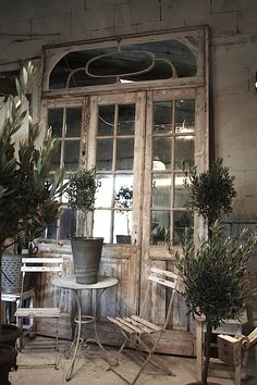 Would love this as a working door with glass, rather than decorative mirror.  3 doors and upper panel in frame. France 1870's. Size 10ft H x 6ft W.