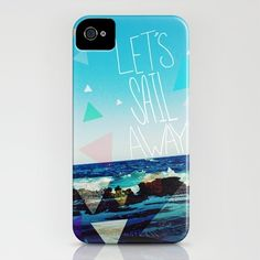 """""""Let's Sail Away"""" iPhone case by Society 6"""