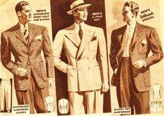 History of 1940's Men's Suits- What Men Wear - 1940's Fashion