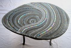 mosaic table. not crazy about the table, but like the design