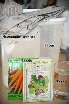 Make seed tape strips!