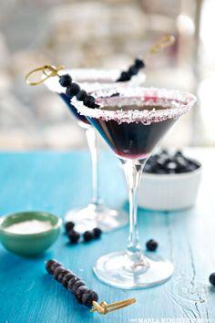 Blueberry Martini Cocktails   FamilyFreshCooking.com