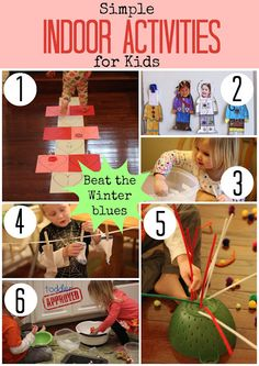 Simple Indoor Activities for Kids - keeping this on hand for this winter!