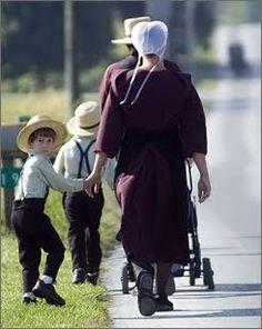 Amish family