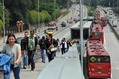 These Cities Have The Most Dangerous Public Transportation Systems For Women - Public buses at a central station in Bogota, Colombia, on March 4, 2014.