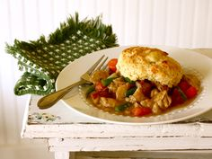 Turkey Pot Pie - great leftover turkey meal! This was good, though I might leave the sugar out of the biscuits next time, they were a little too sweet. Also, this recipe made about twice the biscuits I needed, so I would cut that amount in half.