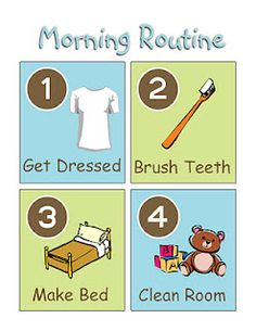 printable morning routine for the kids