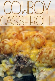 Little Bitty Kitchen: Cowboy Casserole I served with homemade hash browns 4 medium potatoes 1/2 medium onion sautéed 2 eggs Salt pepper and seasoned salt to taste Put in pan until tender Then top the casserole with it Place in over @ 350 for 30 min