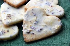 Iced Lavender Lemon Shortbread Cookies