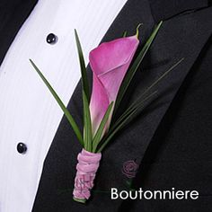 FiftyFlowers.com - Mini Calla Lily Pink Boutonniere and Corsage Pack