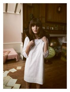 Beautifully simple dress (or nightgown maybe?).
