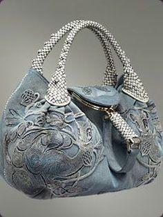 handbag, spi bag, purs, blue, jean style