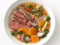 Sirloin With Teriyaki Broth from #FNMag #myplate #protein #veggies