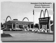 First McDonald's Drive-in Restaurant in Kenosha, WI at 8058 Sheridan Rd.