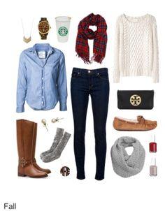 Fall/winter preppy fashion!