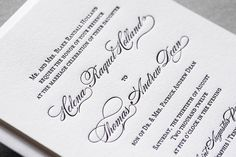 Aerialist Press // Lovely Letterpress Wedding Invitation // Classic, Timeless, Elegant Invitation