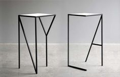 FAKTURA DESIGN, NY & LA TALL TABLE #table et typographie