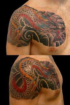 tatuaggio classico giapponese, dragone, nov. 2011