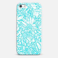Daisy Daisy in Southwest Turquoise iPhone & iPod case by lisaArgyropoulos | Casetagram