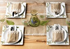 Pretty burlap fall table setting from @Plaid Crafts!