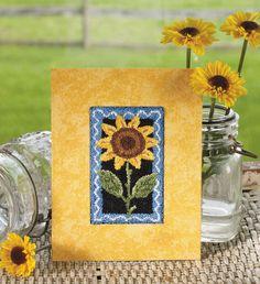 Sunflower PunchNeedle