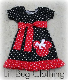 Too Cute Minnie Poka Dot Dress...