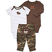 bodysuit, camo, boy stuff, boy rule, baby boy outfits