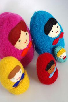 Felt Matryoshka Russian Dolls