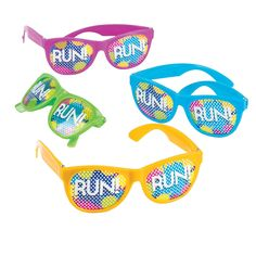 Your color run outfit isn't complete without these pin hole glasses! - OrientalTrading.com