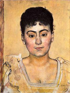 Ferdinand Hodler-portrait of madame de-r 1898