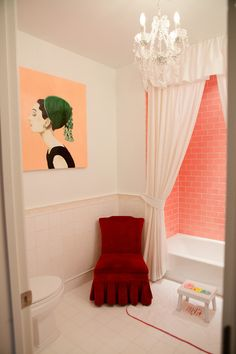 When I first moved into my apartment here in NYC I wanted to vomit at the yellow shower tile, but after some time I discovered that it was a perfect dash of color! Lately, normal grey and off white tiles are boring me.  I am loving me some bright and colorful shower tile. It can really do great things for your bathroom.