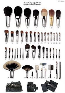 An explanation of what each brush does. Good to know - just in case I actually need it - or mix up the make up brushes with the paint brushes... ;)