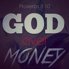 God over money | Jesus...