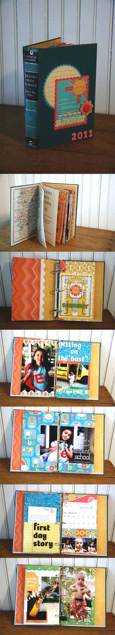 cool mini albums made from old hardback books