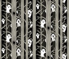 Spooky Forest fabric by artytypes on Spoonflower - custom fabric