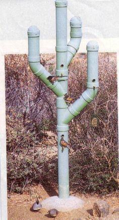PVC Birdhouse to make a cactus