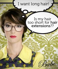 Is my hair too short to get hair extensions? It's all explained here.