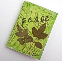Peace - A Mini Writing Notebook by walkinthewoodsllc for $14.00 #Zibbet