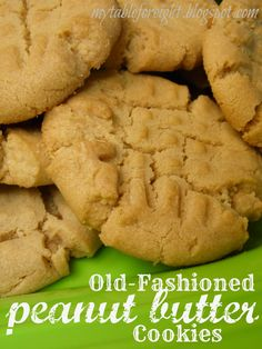 Old-Fashioned Peanut Butter Cookies on MyRecipeMagic.com