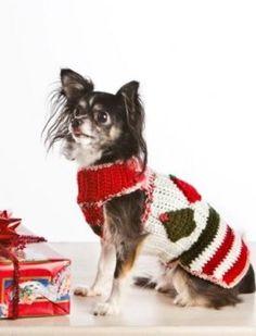 Crocheted Christmas Dog Sweater Pattern
