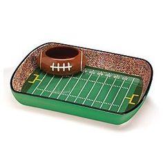 Football Stadium Chip & Dip Platter - Super Bowl Party