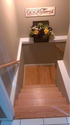 Wood Basement Stairwell